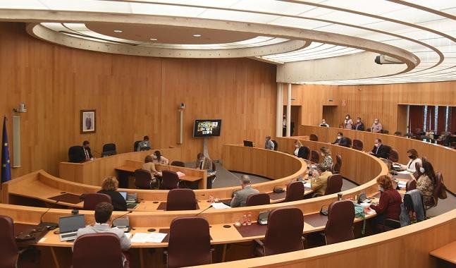 Un momento de la sesión del pleno provincial.