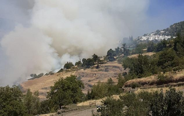 Imagen del incendio, que se inició el pasado miércoles.