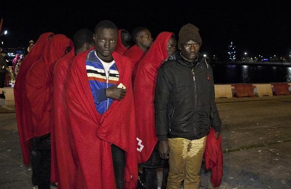 Llegada al Puerto de Motril de los migrantes rescatados.