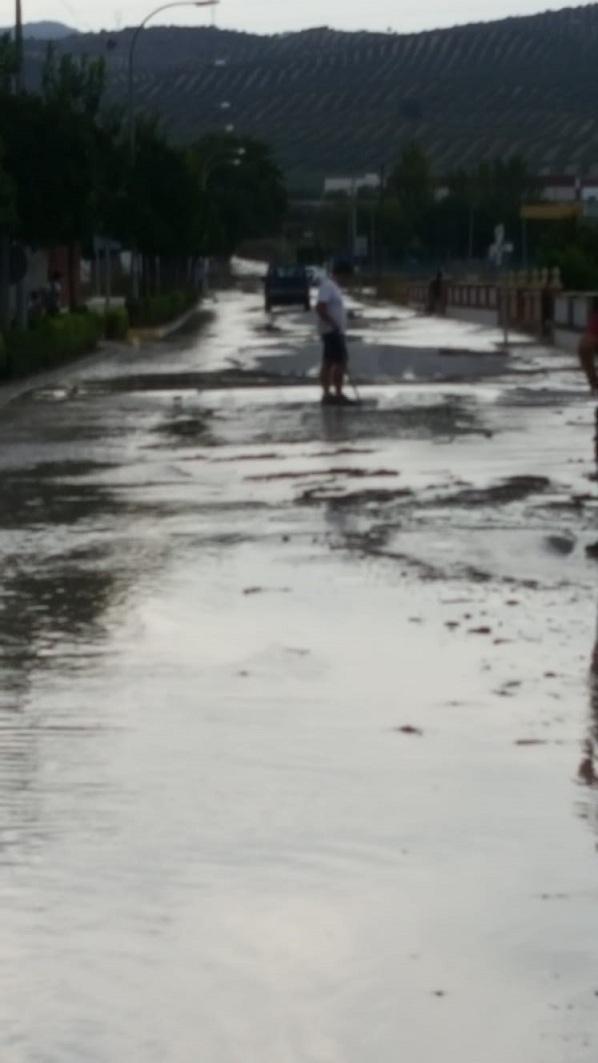 Una imagen de las inundaciones en el pueblo.