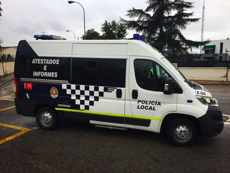 Vehículo de atestados de la Policía Local.