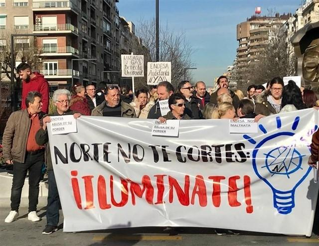 Una de las protestas por los cortes de luz.