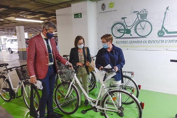 Bicicletas que se podrán alquilar en los aparcamientos con tarifas rebajadas.