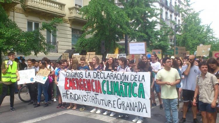 Manifestación del colectivo el pasado mayo por el centro.