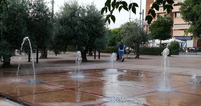 Fuente en un parque del Zaidín, en Granada.