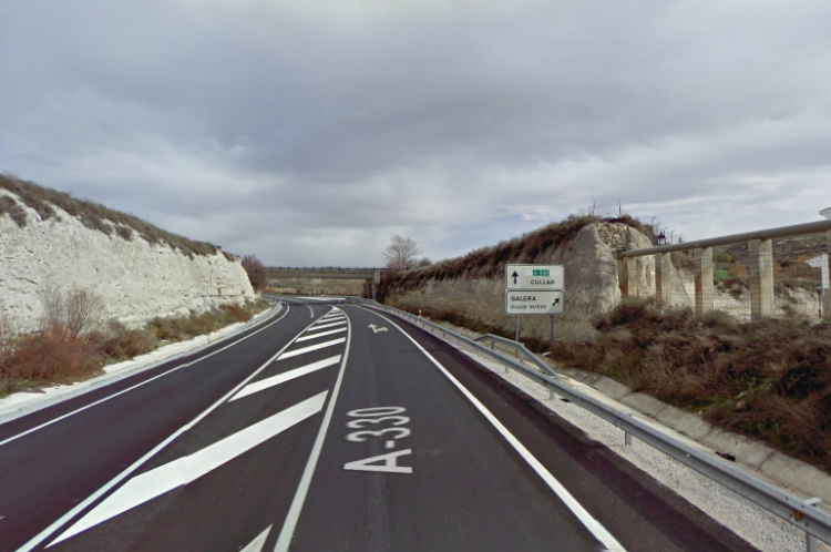 El accidente ha ocurrido en la N-330 a su paso por Galera.