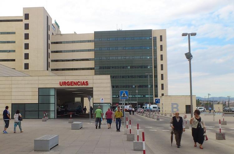 Entrada a Urgencias en el PTS.
