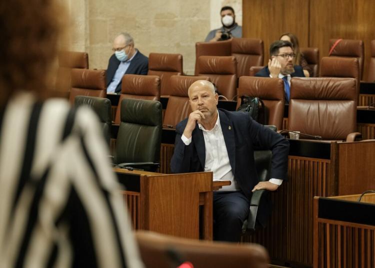 Imbroda, en una imagen en el Parlamento.