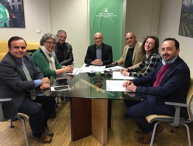 Reunión con alcaldes de los municipios afectados.