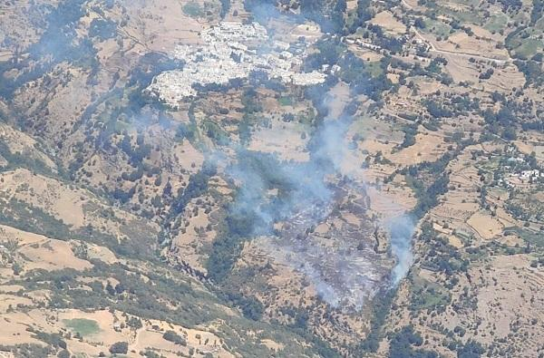 Incendio en Bubión.