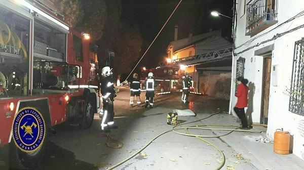 Imagen de archivo de un incendio en Fuente Vaqueros.