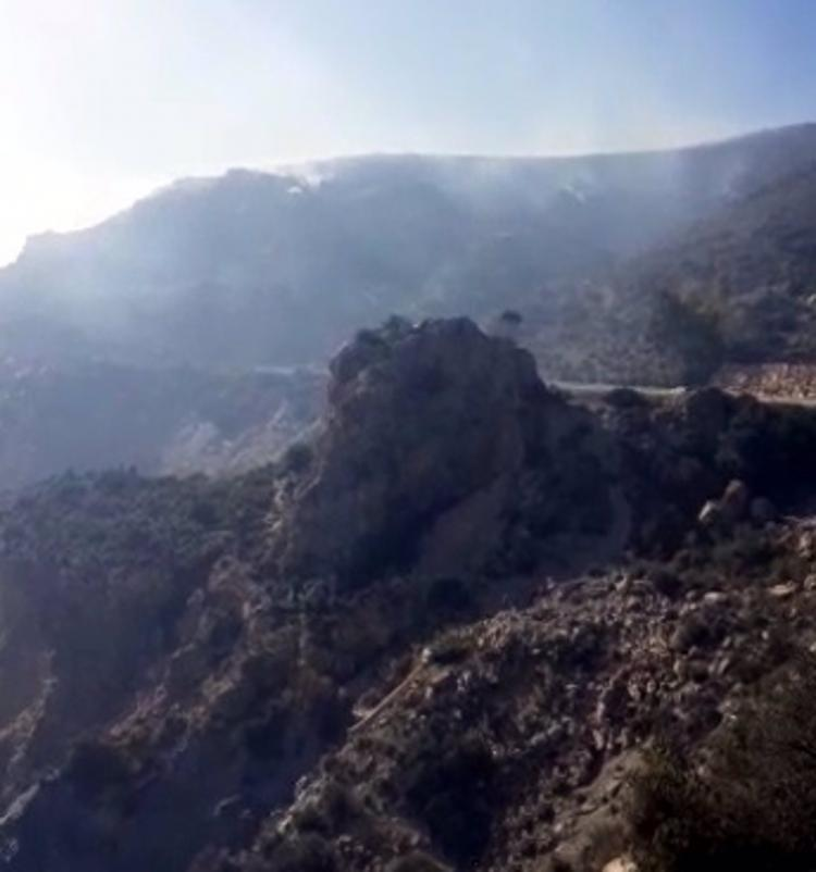 Imagen de la zona del incendio.
