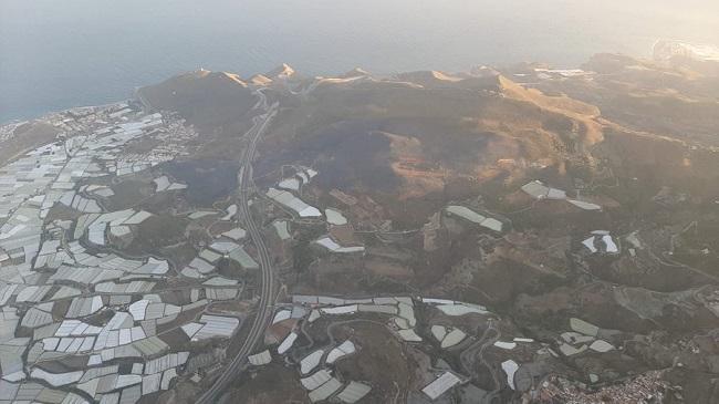 Imagen aérea de la zona afectada.