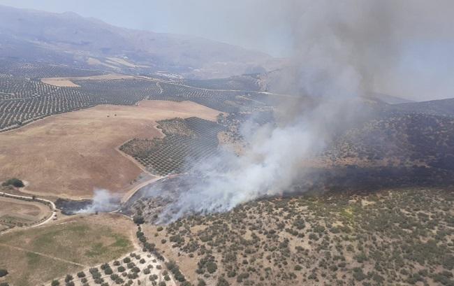 Imagen del incendio de este lunes.