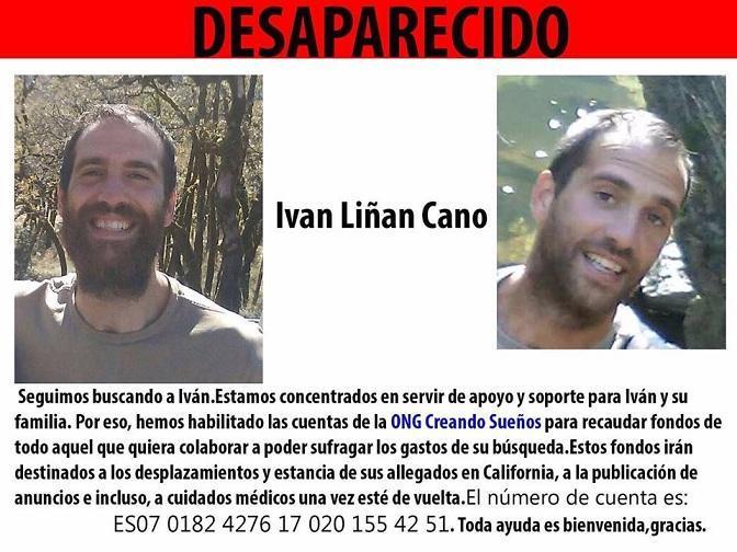 Cartel difundido sobre la búsqueda de Iván.