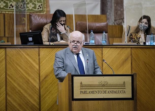 Jesús Aguirre, este jueves en el Parlamento.