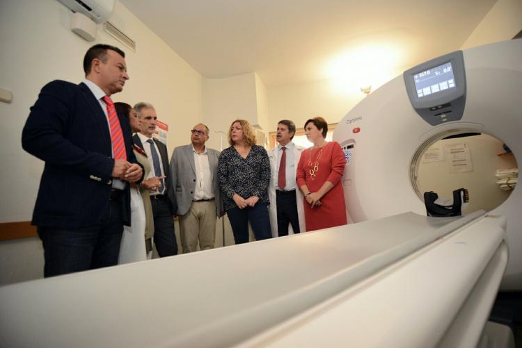 Nuevo TAC del Hospital de Motril, instalado a primeros de julio.