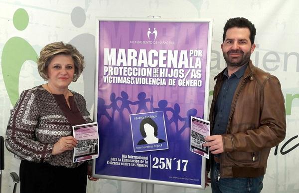 El alcalde de Maracena y la concejala de Igualdad.