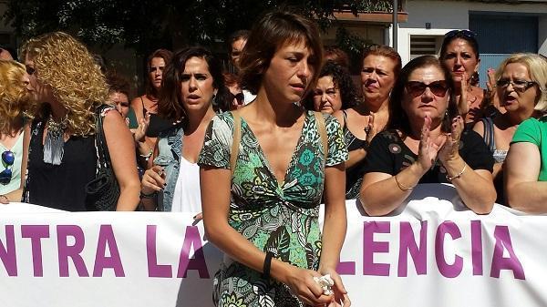 Juana Rivas, en una concentración en su apoyo.