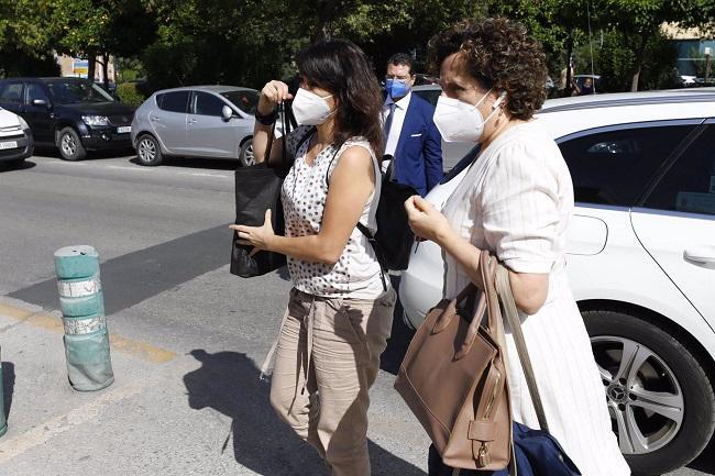 Juana Rivas, el pasado 11 de junio, al ingresar en el CIS Matilde Cantos.