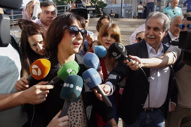 Juana Rivas en una de sus comparecencias en el Juzgado.