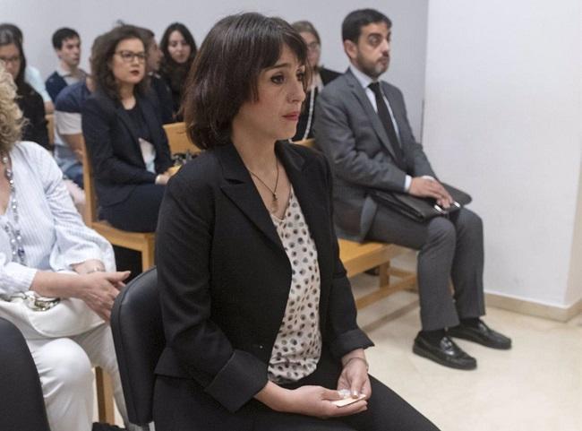 Juana Rivas, en una imagen del juicio.