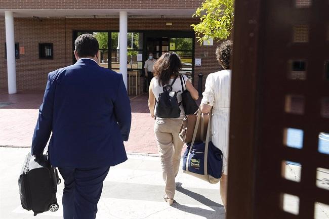 Imagen de la entrada de Juana Rivas, el pasado 11 de junio, en el CIS Matilde Cantos.