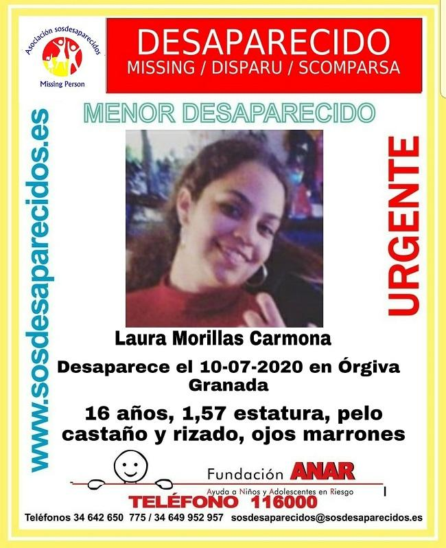 Laura Morillas Carmona está desaparecida.