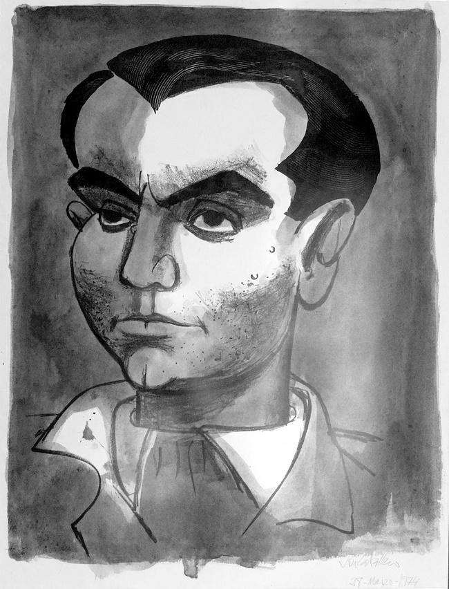 Litografía de Federico García Lorca.