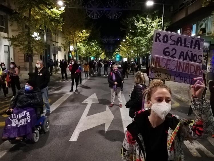 La manifestación se desarrolló con medidas extraordinarias de seguridad por la pandemia.