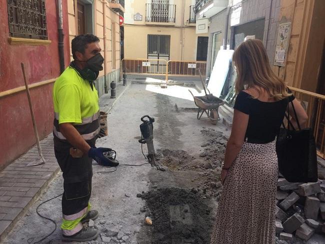 Reparación de la calle Concepción.