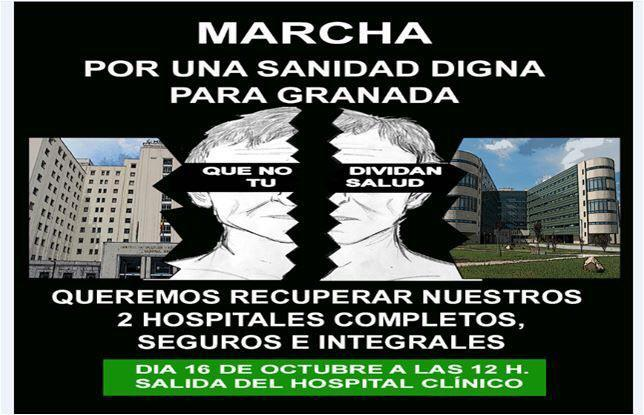 Cartel de la marcha convocada para el 16 de octubre.