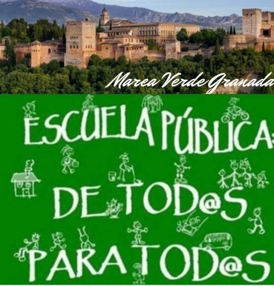 La Marea Verde de Granada anuncia movilizaciones por la falta de garantías para el inicio del curso.