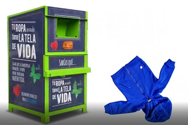 En la capital hay 180 contenedores de ropa usada.