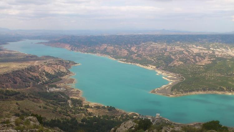 Embalse del Negratín, el de mayor capacidad de la provincia.