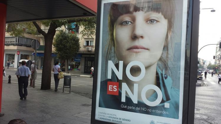Campaña municipal de Granada contra la violencia de género.