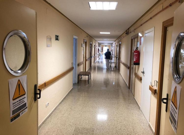 Pasillo del antiguo Hospital Clínico.