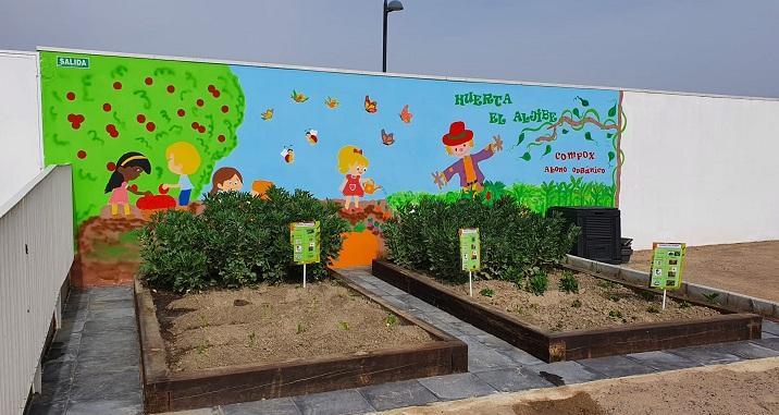 Huerto ecológico en la escuela infantil El Aljibe.