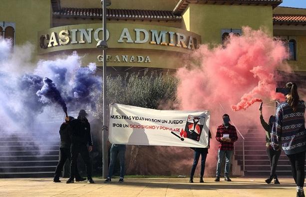 Imagen de la protesta difundida por las organizaciones.