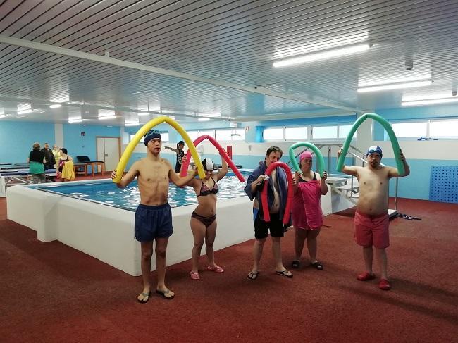 Participantes en la jornada para promocionar el deporte saludable.