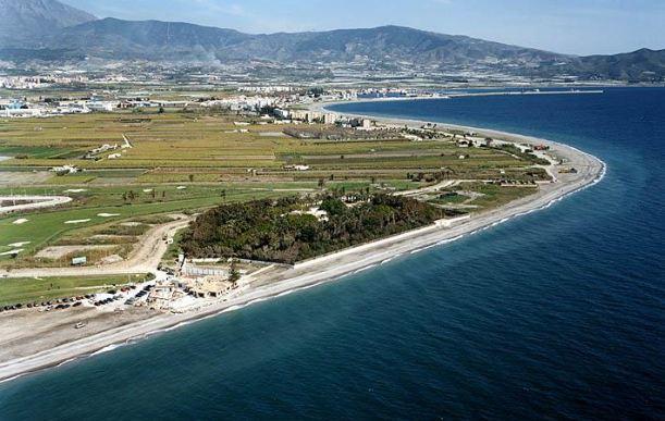 Zona de playa que se va a regenerar.