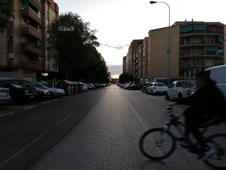 Una calle del Zaídin.