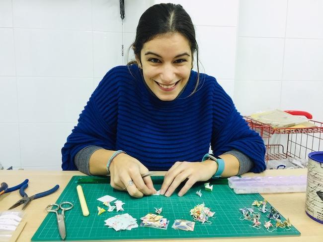 Rosa, en el taller.