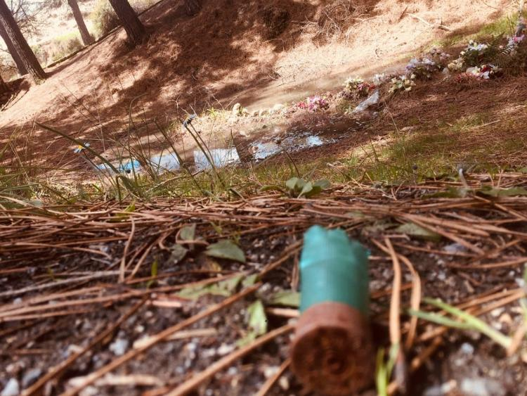 Resto de una posta de cazador junto al Barranco de Víznar, Lugar de Memoria Histórica.