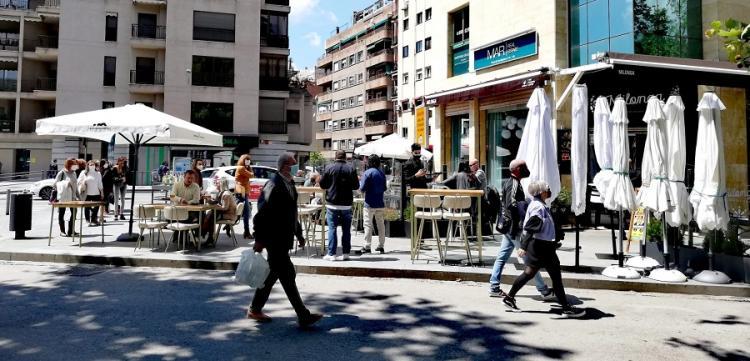 Imagen de este mediodía en el centro de Granada.