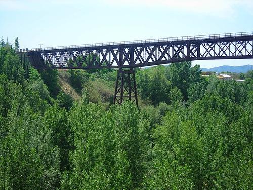 Puente de hierro de Dúrcal.