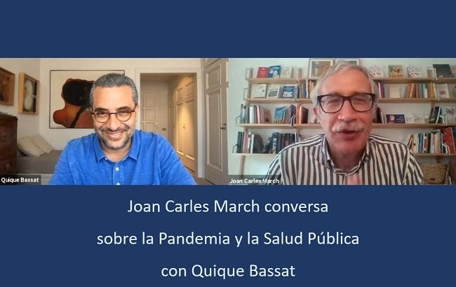 Joan Carles March conversa con Quique Bassat.