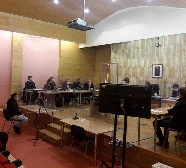 Sala de vistas de La Caleta en la que se ha celebrado la sesión.