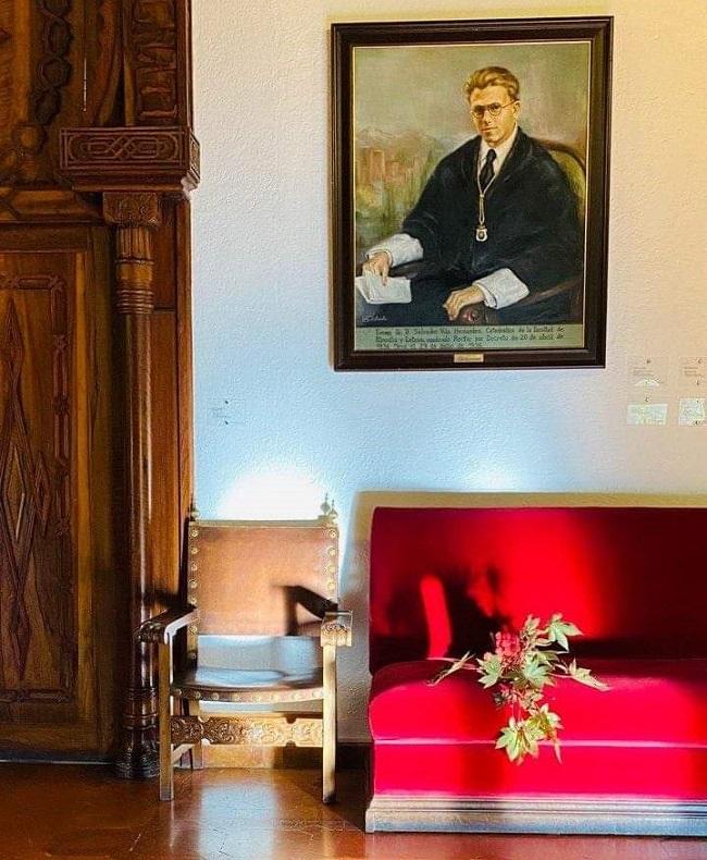 Retrato de Salvador Vila en el Hospital Real.