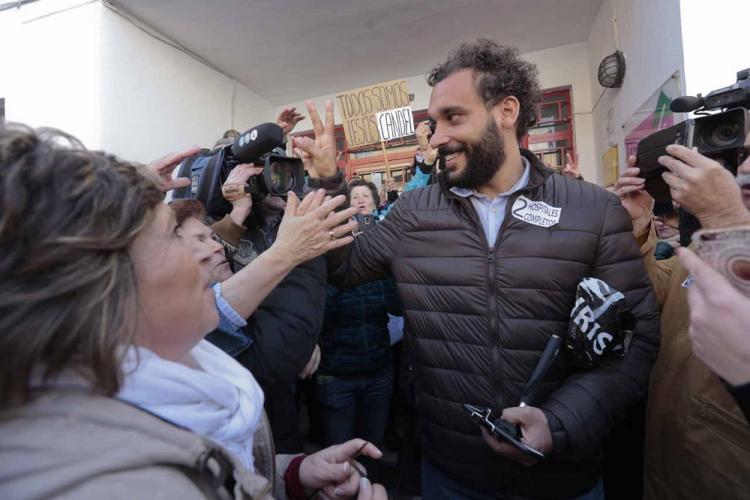 Candel, ayer, a la salida del juzgado de Paz de Albolote.
